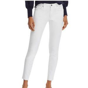 AG Farrah Skinny High-Rise Ankle Jeans - White